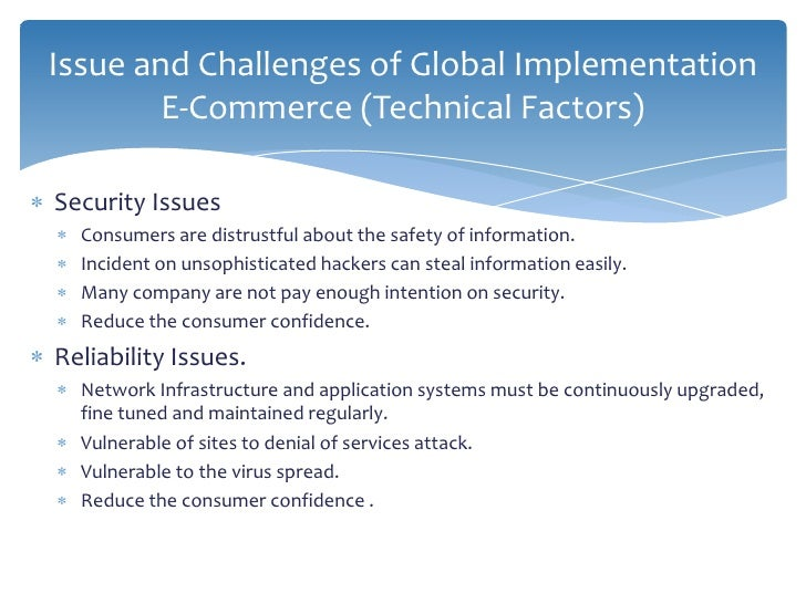 E Commerce Integration And Implementation Issues