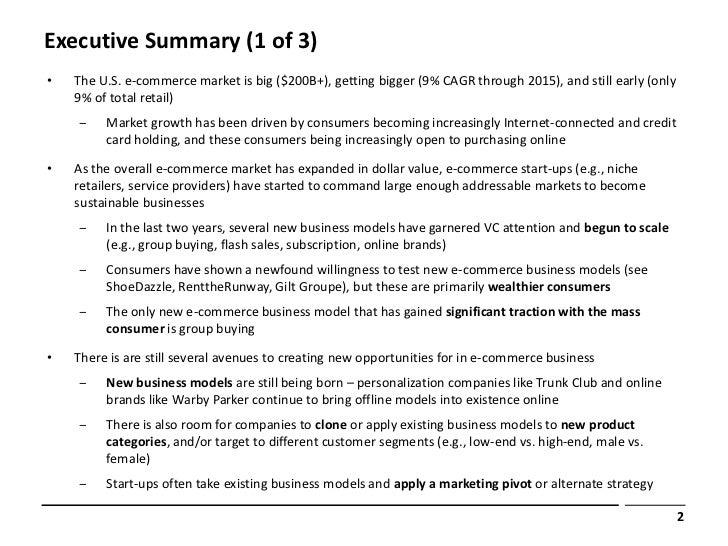 business executive summary