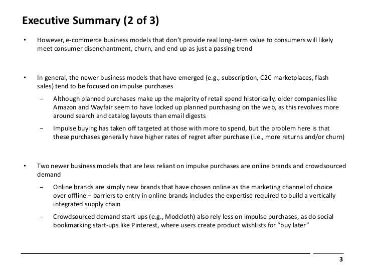 Executive Summary (2 Of 3)•