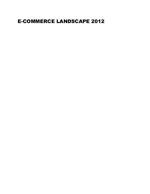E-COMMERCE LANDSCAPE 2012