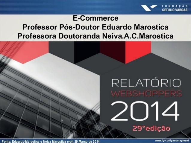 E-Commerce Professor Pós-Doutor Eduardo Marostica Professora Doutoranda Neiva.A.C.Marostica Fonte: Eduardo Marostica e Nei...