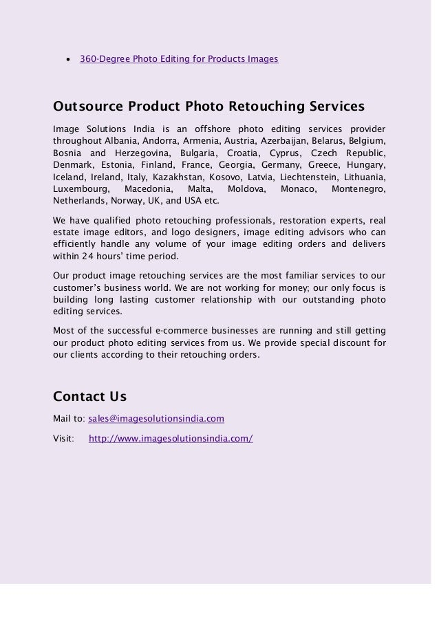 E Commerce Product Photo Editing Services Retail Product