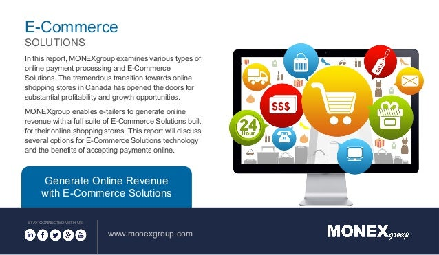 In this report, MONEXgroup examines various types of online payment processing and E-Commerce Solutions. The tremendous tr...
