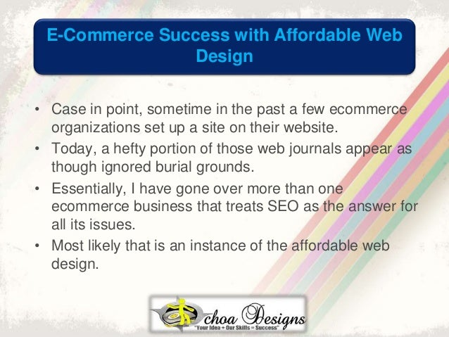 E commerce success with affordable web design for E commerce websites