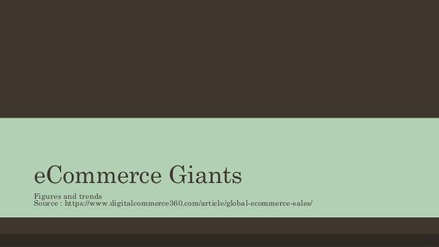 eCommerce Giants Figures and trends Source : https://www.digitalcommerce360.com/article/global-ecommerce-sales/