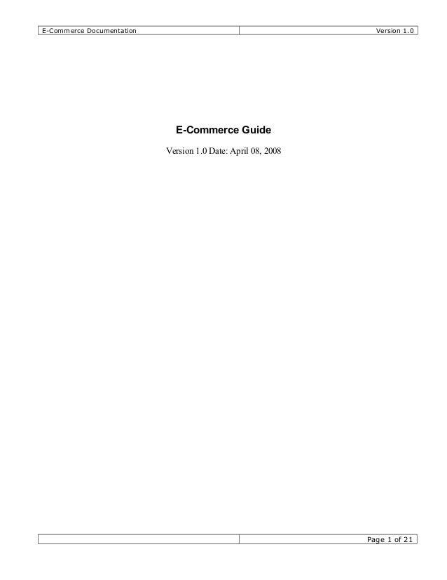 e-commerce thesis pdf