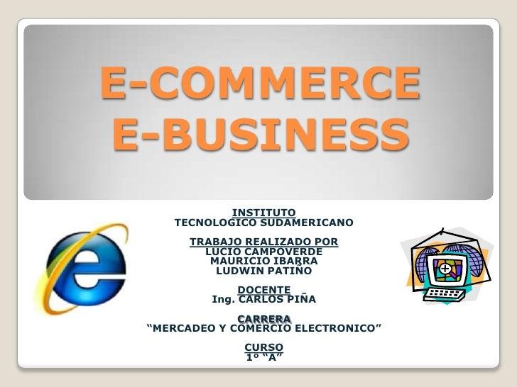 e commerce vs m commerce E-commerce e e-business não são a mesma coisa atualmente muitas pessoas têm acesso à internet – são cerca de vinte milhões de usuários no brasil, e a.