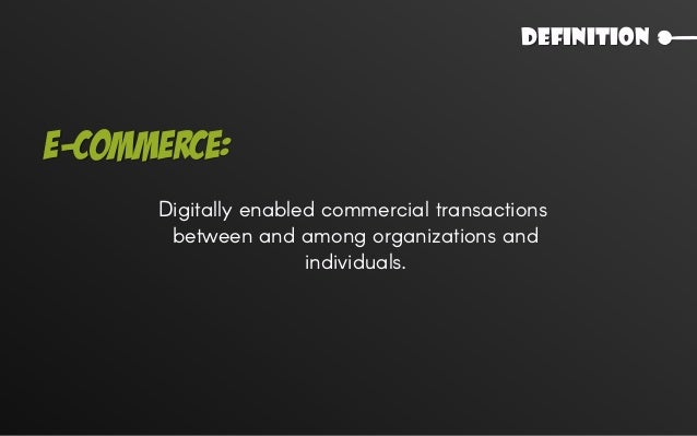 Use of Internet and Web to transact business. Simply,
