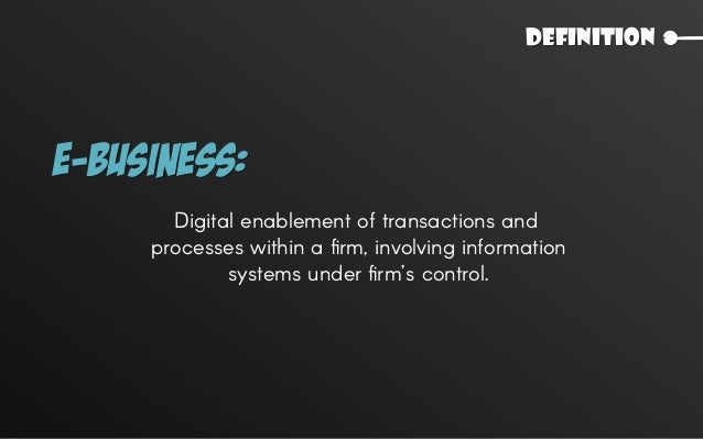 Comparison E-Commerce E-Business 03 No Is it limited to monetary transactions? Yes