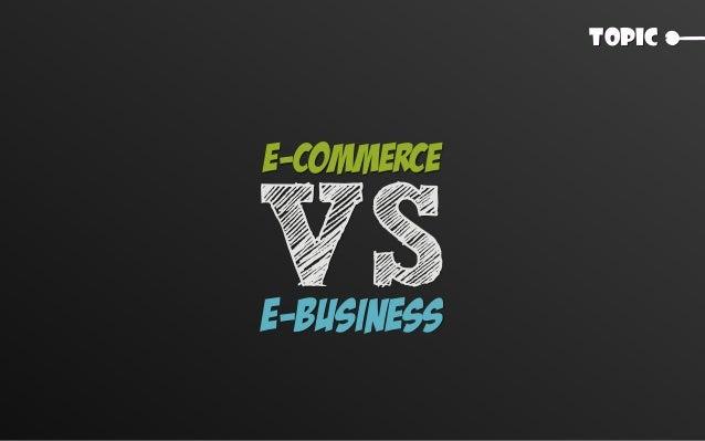 Topic E-Commerce E-Business VS
