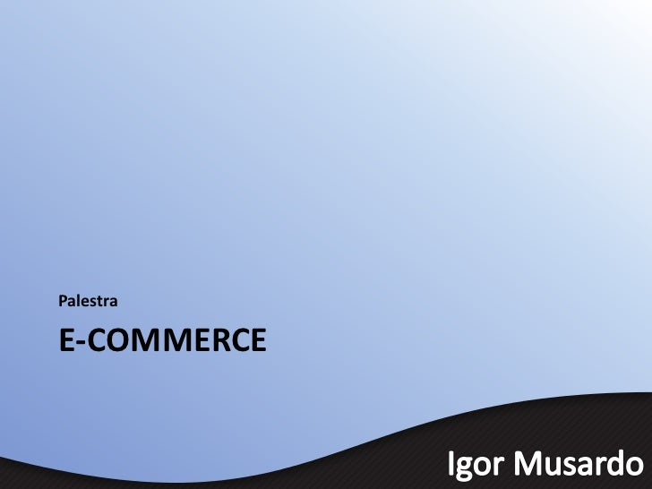 PalestraE-COMMERCE