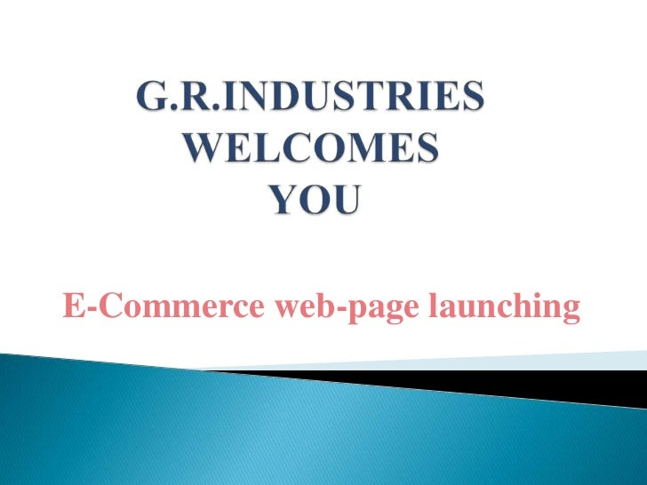 E-Commerce web-page launching
