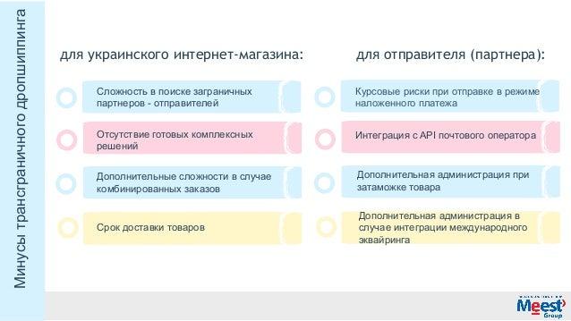 дляукраинскогоинтернет-магазина: дляотправителя(партнера): Дополнительнаяадминистрацияв случаеинтеграциимеждународ...