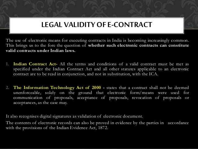 offer and acceptance in online contracts