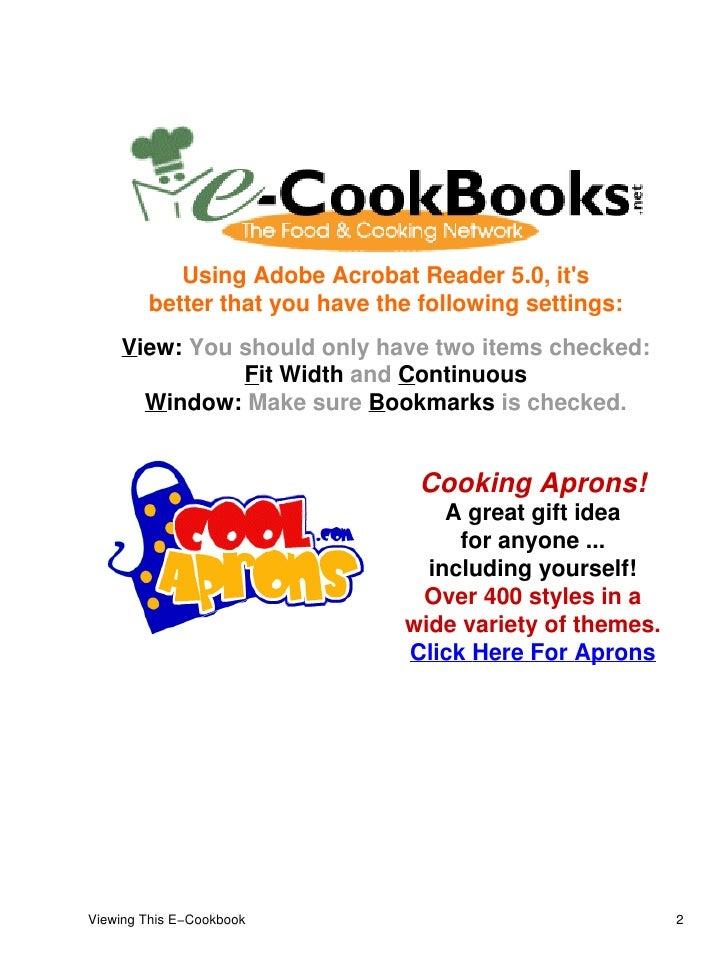 writing an e-cookbooks sampler
