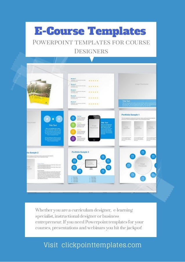 E course powerpoint templates for online course designers e course templates powerpoint templates for course designers visit clickpointtemplates whether you are toneelgroepblik