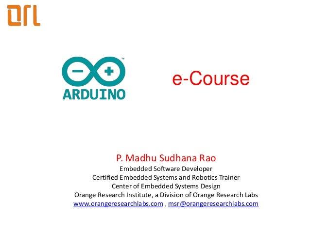Arduino e course syllabus for beginners
