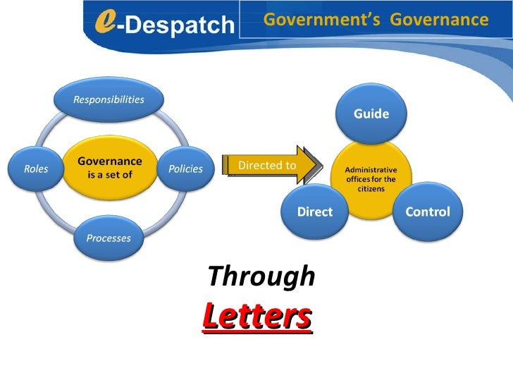 Government's  Governance Through  Letters Directed to