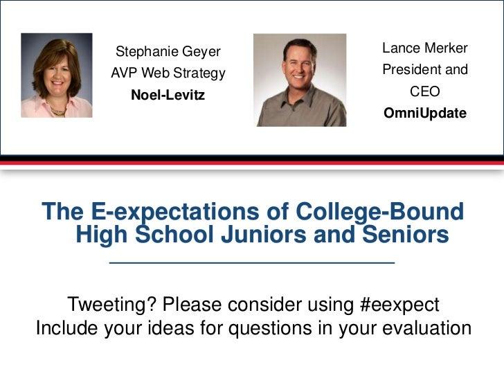 Stephanie Geyer                Lance Merker        AVP Web Strategy                President and           Noel-Levitz    ...