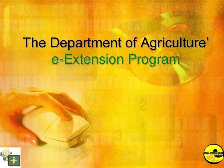 The Department of Agriculture'    e-Extension Program