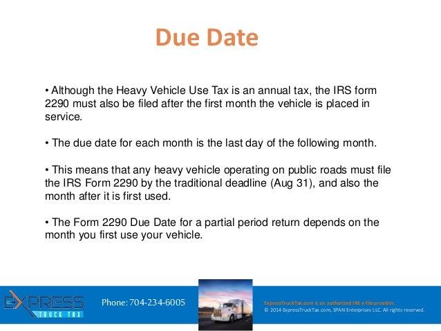 E file hvut irs form 2290 with express trucktax