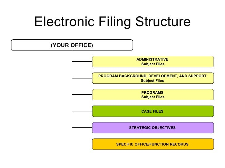 Recommended Electronic Filing Structure Organization And
