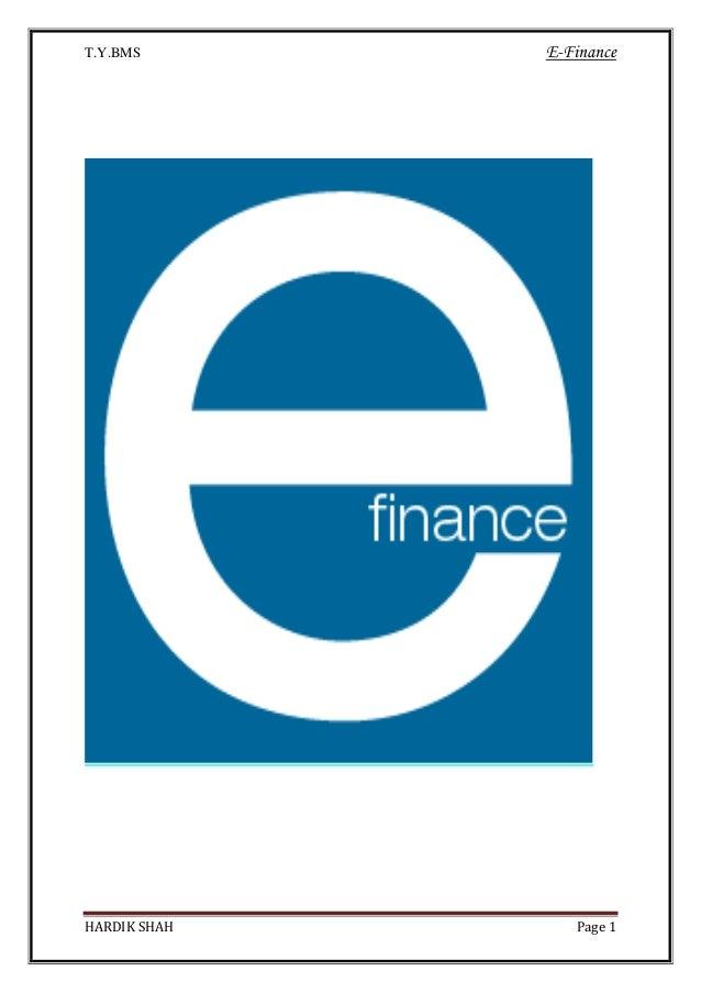 E finance