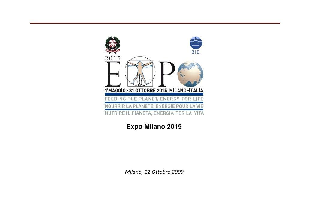 Expo Milano 2015     Milano,12Ottobre2009