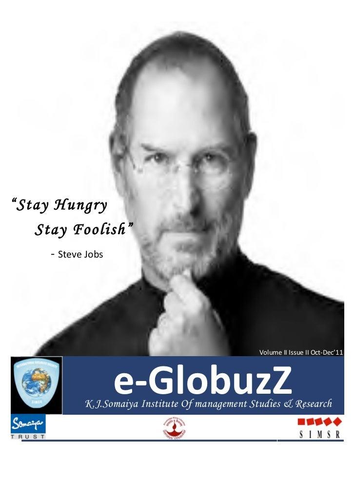 e-‐GlobuzZ                                                                                      Vol II Issue...