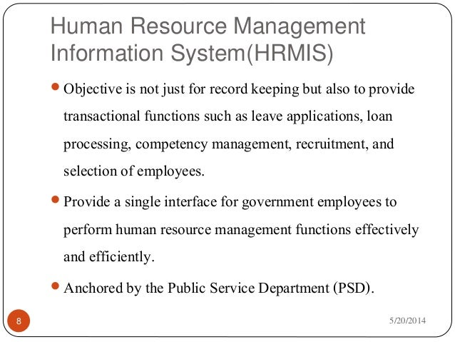 the importance of human resource management information systems hrmis Human resource management information system, madhya pradesh  goal:  understand why a hris is important to the functioning of  however,  developing the hrmis according to different sub-tasks also needs.