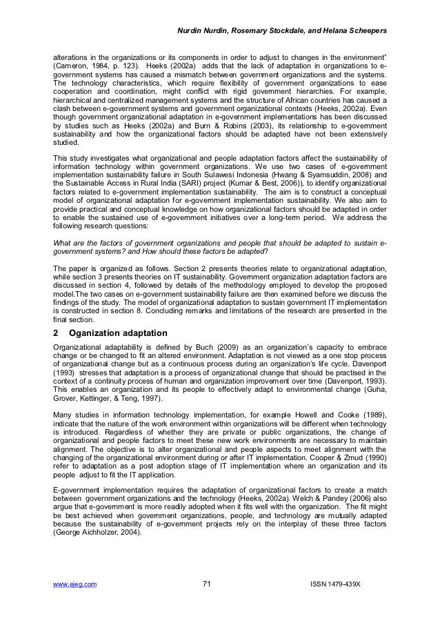 E-Government Sustainability in Developing Countries