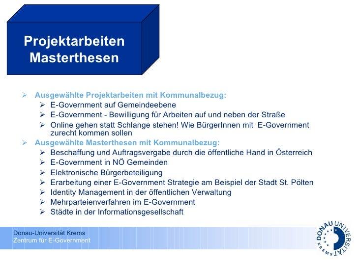 <ul><li>Ausgewählte Projektarbeiten mit Kommunalbezug: </li></ul><ul><ul><li>E-Government auf Gemeindeebene  </li></ul></u...