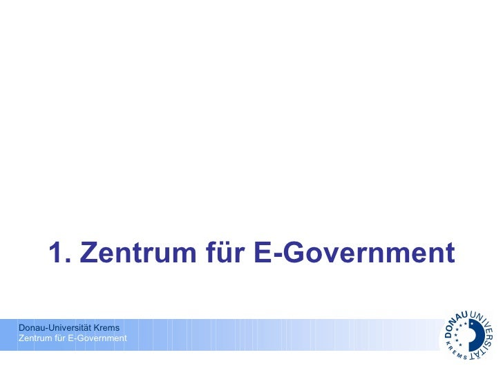 1. Zentrum für E-Government