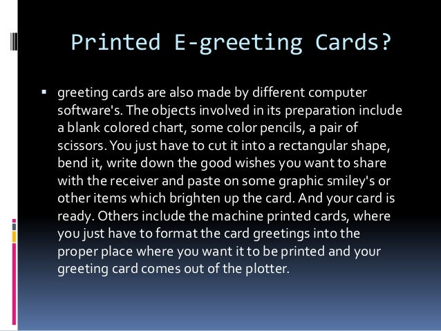 E greeting card by definition is a decorative card 2 printed e greeting cards m4hsunfo