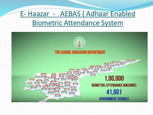 E- Haazar - AEBAS ( Adhaar Enabled Biometric Attendance System