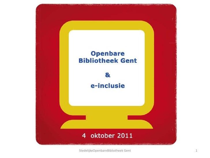 1<br />StedelijkeOpenbareBibliotheek Gent<br />