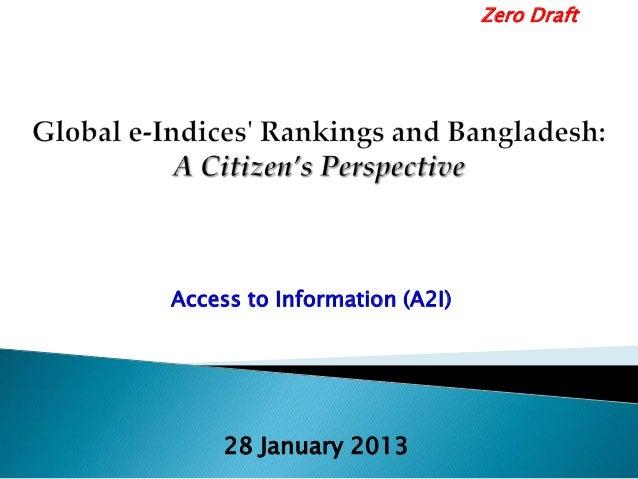 Access to Information (A2I) Zero Draft 28 January 2013
