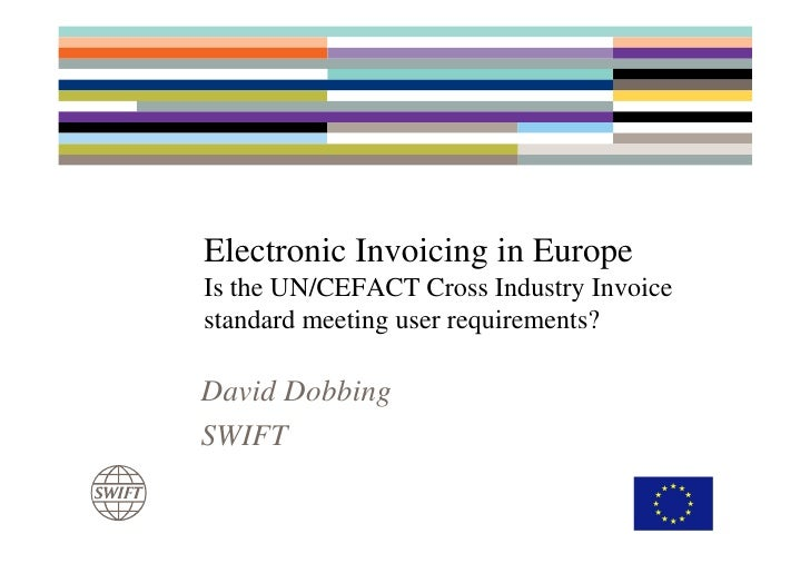 E invoicing is the un cefact cross industry invoice for What is e invoicing