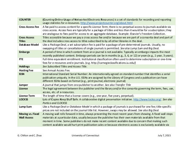 E-Journals Glossary of Terms Slide 2