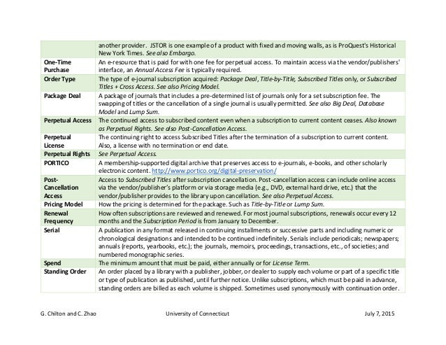 E-Journals Glossary of Terms Slide 3