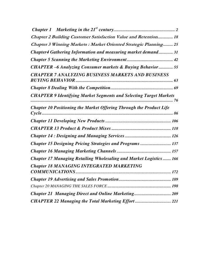 "TOC o ""1-1"" h z Chapter 1    Marketing in the 21st century PAGEREF _Toc34464499 h 2<br />Chapter 2 Building Customer Sat..."