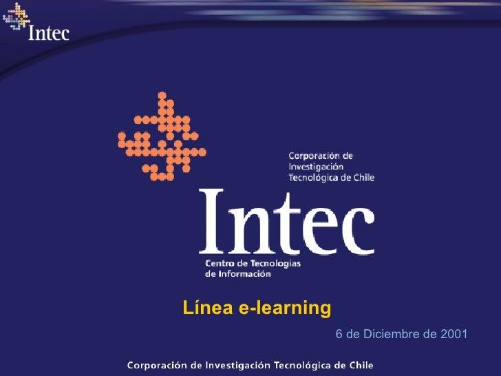 6 de Diciembre de 2001 Línea e-learning