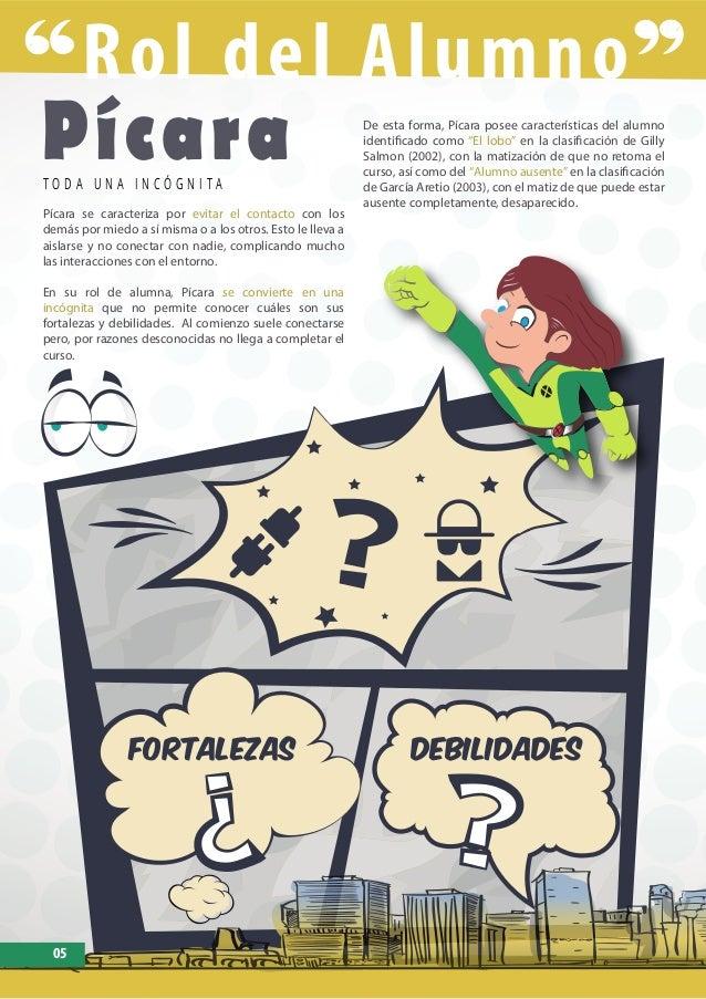 Rol del Alumno PícaraT O D A U N A I N C Ó G N I T A Pícara se caracteriza por evitar el contacto con los demás por miedo ...