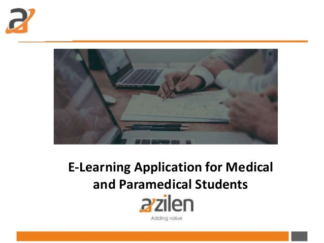 E-Learning Application for Medical and Paramedical Students