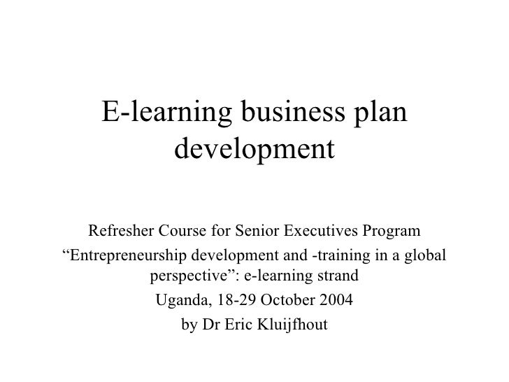 business plan for e-learning