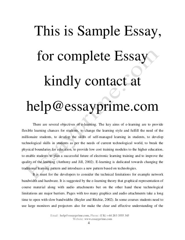 Essay writing about e learning