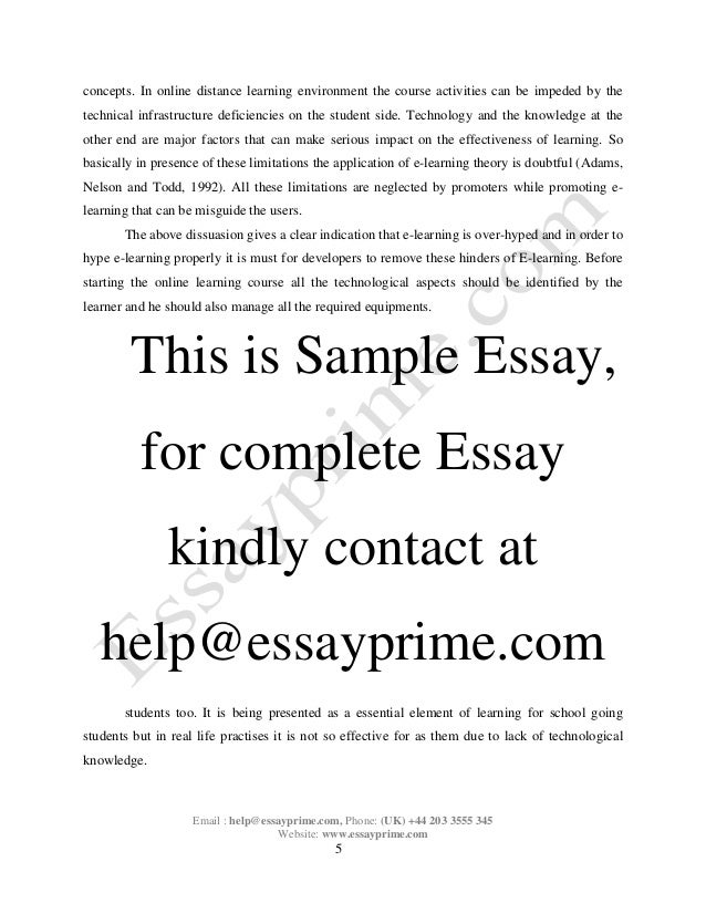 e learning essay sample 6 concepts