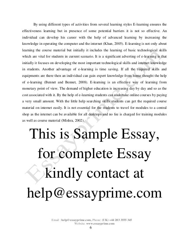 e learning essay sample  7
