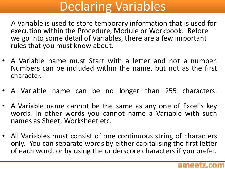 E learning excel vba programming lesson 4