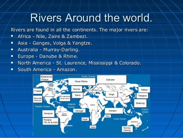 E Learning Geography Project By Julian Sammut - Rivers around the world